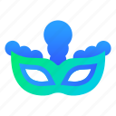 carnival, festival, mask, party icon