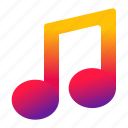 music, musical, note, play icon
