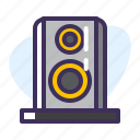 celebration, dance, grey, loud, music, party, speaker icon