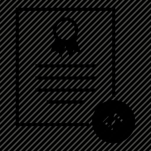 certificate, code, developer, document, patent, software icon