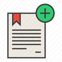 add, certificate, create, document, manual, new, rules icon