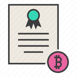 banking, bitcoin, business, certificate, ecommerce, financial, statement icon