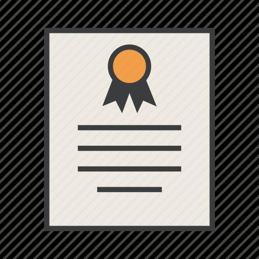 certificate, certification, document, scholarship, standard, warranty icon
