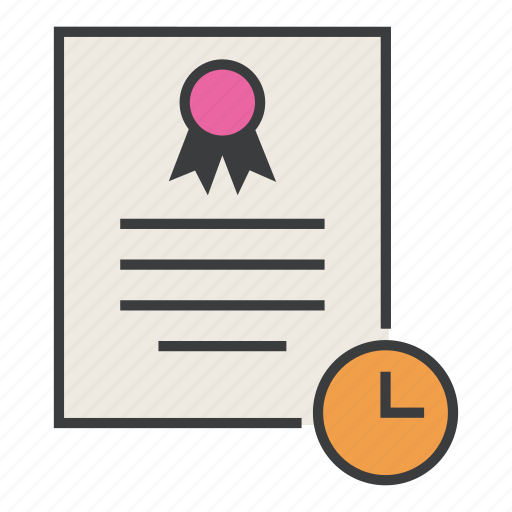 certificate, document, expiry, features, guarantee, time, warranty icon