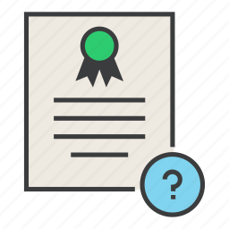 certificate, certification, document, help, info, rules, standard icon