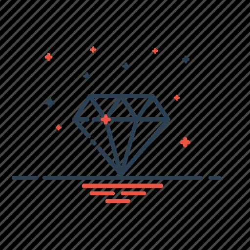 diamond, gamestone, jewellery, jewelry, ruby, stone, vision icon