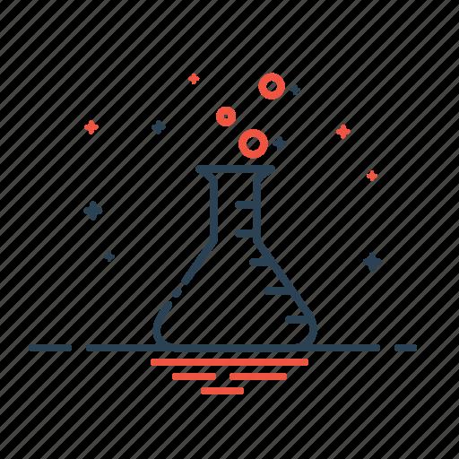 beaker, chemical, gas, labortory, liquid, research, science icon