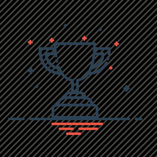 achievement, award, best, first, prize, trophy, winner icon