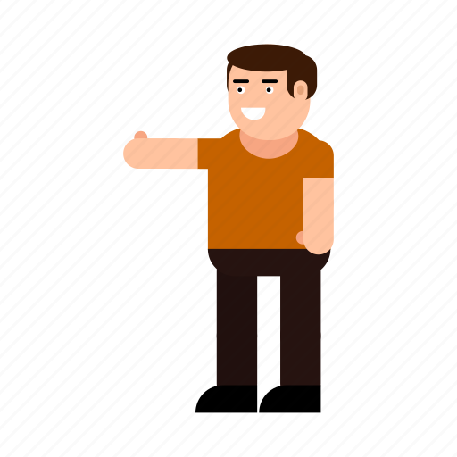 avatar, boy, character, finger, gesture, human, up icon