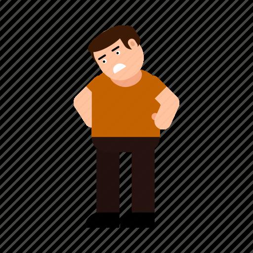 avatar, boy, character, emotion, human, sad, upset icon