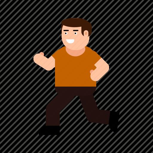 avatar, boy, character, gesture, human, run, sport icon