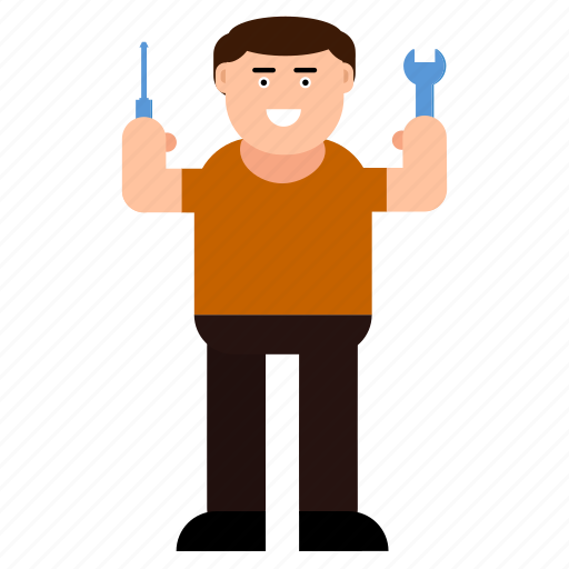 Character, man, master, repairer, mechanic, plumber, worker icon - Download on Iconfinder