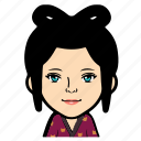cartoon, female, girl, person, profile, user, woman icon