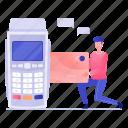 card transaction, cash register, cash till, invoice machine, point of sale, pos icon