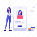 e learning, educational app, online education, video chat, video lecture, video lesson, webinar icon