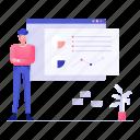 lecture, professional training, teacher, web analytics, workshop icon