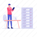 control room, datacenter, server hosting, server rack, server room icon