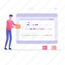 coding, html coding, software development, web development, web programming icon
