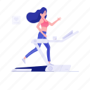 cardio workout, exercise tool, gym equipment, running machine, treadmill icon