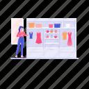 almirah, closet, clothing cupboard, hanging closet, wardrobe icon