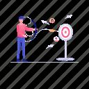 customer focus, customer segmentation, focus person, target audience, target customer icon