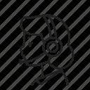 avatar, female, job, operator, work icon
