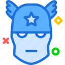 america, avatar, captain, character, movie, smileface, superhero icon