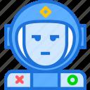 astronaut, avatar, character, cosmonaut, helmet, smileface, space icon