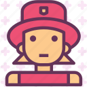 avatar, character, firewomen, profile, smileface icon