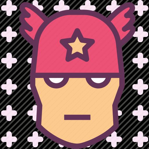america, avatar, captain, character, movie, smileface, superhero icon