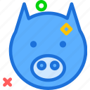 animal, avatar, character, horse, profile, smileface
