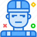 avatar, character, profile, smileface, worker icon
