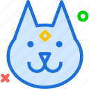 animal, avatar, character, dog, profile, smileface, wolf icon