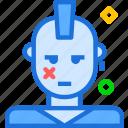 avatar, character, profile, rocker, smileface icon