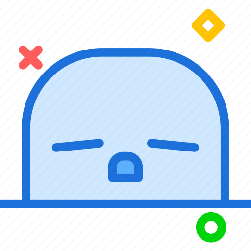 avatar, character, profile, sleepy, smileface icon