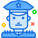 avatar, character, policemale, profile, smileface icon