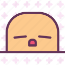 avatar, character, profile, sleepy, smileface icon