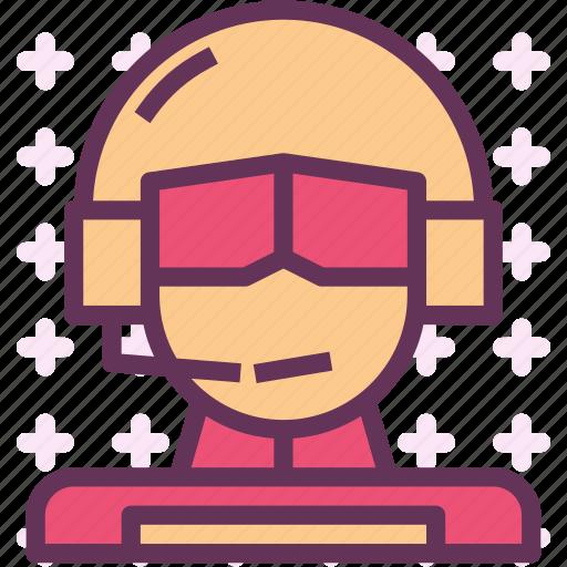 avatar, character, pilot, profile, smileface icon