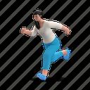character, builder, run, running, hurry, fast, express, woman