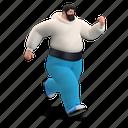 character, builder, speed, run, running, rush, excited, move, man