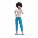 character, builder, mobile, device, smartphone, phone, call, woman