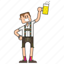 bavaria, bayer, bayerisch, bayern, beer, beerfest, bier, bierfest, binge drinking, cartoon, character, cheers, deutschland, dude, face, fashion, full body, garb, german, germany, gesicht, guy, hairstyle, happy, human, löten, male, mann, men, mensch, oktoberfest, party, people, prosit, saufen, smile, tracht, trinken, typ, volksfest, wiesn icon