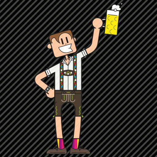 bavaria, bayer, bayerisch, bayern, beer, beerfest, bier, bierfest, binge drinking, cartoon, character, cheers, deutschland, dude, face, fashion, full body, garb, german, germany, gesicht, guy, hairstyle, happy, human, löten, male, mann, men, mensch, oktoberfest, party, people, prosit, saufen, smile, tracht, trinken, typ, volksfest, wiesn icon