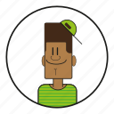 90s, african, america, blacky, cap, cartoon, character, dude, face, foreigner, guy, happy, head, hiphop, human, male, men, mensch, people, smile, usa icon