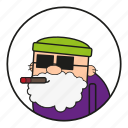 90s, cartoon, character, cigar, face, fahsion, gramp, gramps, granda, grandad, granddad, grandfather, grandpa, hair, head, human, male, men, mensch, oktoberfest, old, opa, people, popi, poppy, rauchen, smoke, smoking, zigarre icon