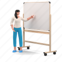 business, character, builder, presentation, lecture, whiteboard, education, projection, project, woman