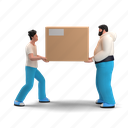 delivery, character, builder, logistic, box, package, deliver, transfer, hand
