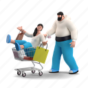 e, commerce, character, builder, shopping, ecommerce, cart, purchase, bag, sale