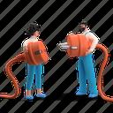 energy, power, electricity, plug, connect, teamwork, work, team