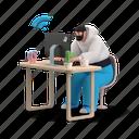 workflow, office, man, computer, work, job, wireless, online, from, home